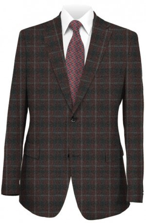 TailoRed Burgundy Pattern Tailored Fit Sportcoat #8160054