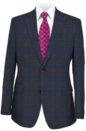TailoRED Navy Plaid Tailored Fit Suit #81A0036
