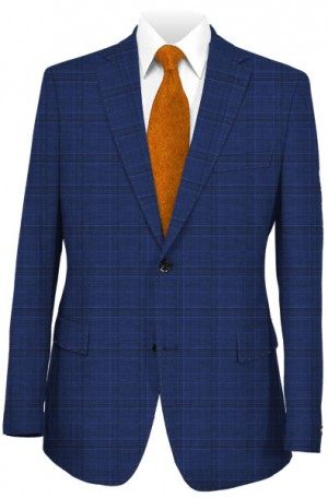 TailoRED Blue Pattern Tailored Fit Suit #82A0055