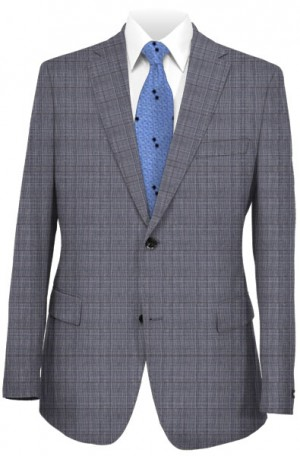 TailoRED Tastefully-Distinctive Blue-Gray Tailored Fit Suit 82C0037