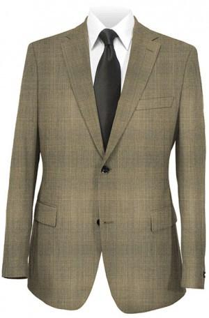 Joseph Abboud Medium Brown Pattern Suit with Pleated Slacks #831991