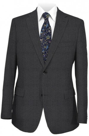 Pal Zileri Charcoal Pattern Suit #83571