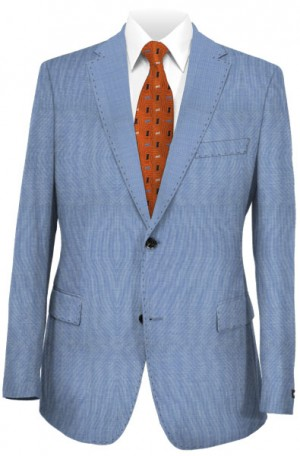 """""""Delightfully Blue"""" Wool-Silk Tailored Fit Suit from TailoRed #83C0002"""
