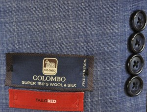TailoRED Blue Wool-Silk Tailored Fit Suit #84A0005