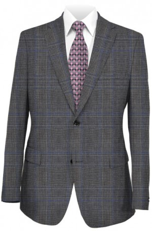 TailoRED Medium Gray Plaid Tailored Fit Suit 84A0023