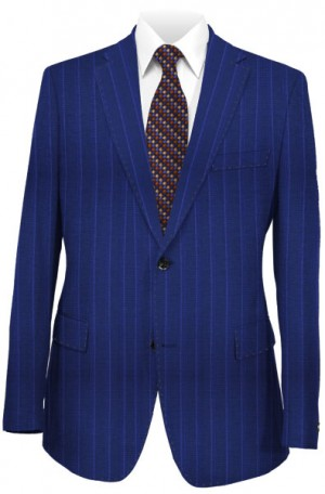 TailoRED Blue Stripe Tailored Fit Suit #84A0055