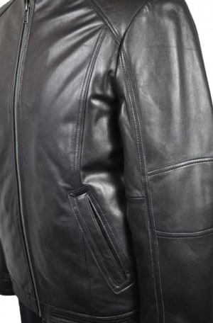 Boston Harbour Waist Length Leather Jacket #858420