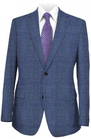"""""""Blue Drama"""" Wool-Silk Tailored Fit Suit from TailoRED #85A0031"""