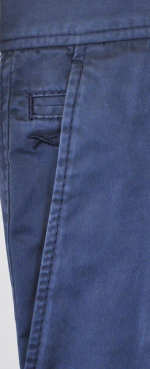 Brax Light Navy Stretch Cotton Slacks #861808-22
