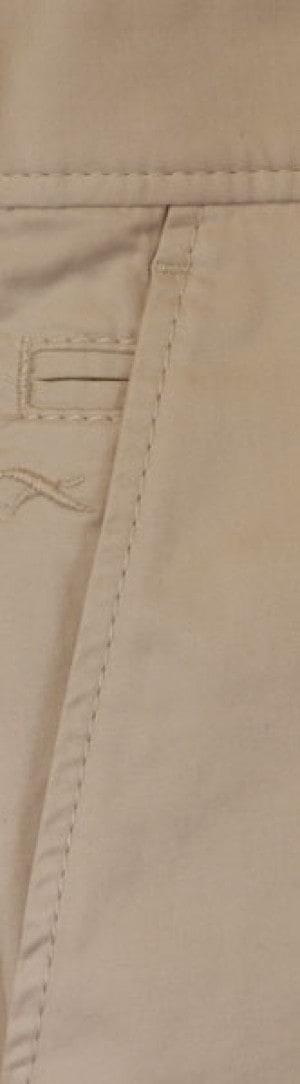 Brax Khaki Stretch Cotton Slacks #861808-56