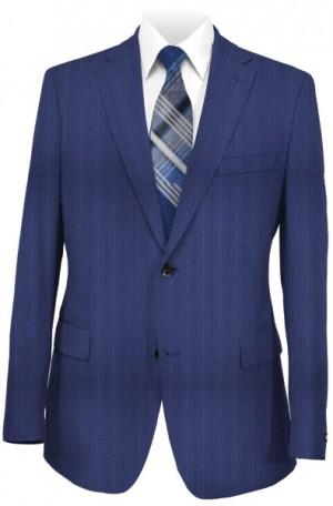 Petrocelli Blue Pinstripe Classic Fit Suit #86322