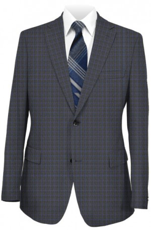 Canaletto Charcoal Check Tailored Fit Suit #863234-1