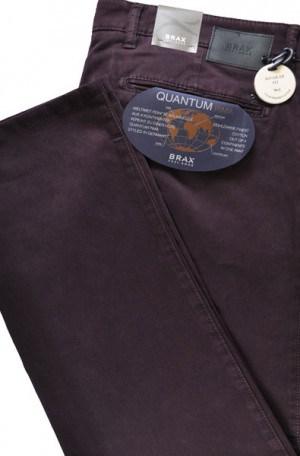 Brax Burgundy Pima Cotton Tailored Fit Slacks #87-1757-82
