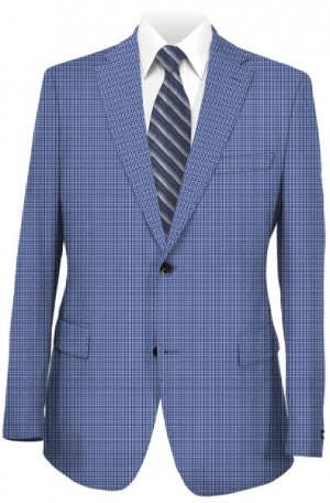 Canaletto Blue Check Tailored Fit Sportcoat #8888-OM