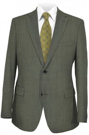 Betenly Silver Gray Tailored Fit Suit #8T0013