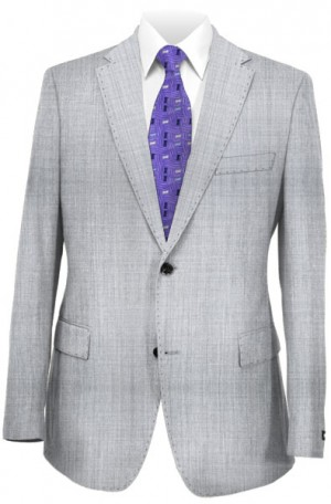 Betenly Silver Gray Tailored Fit Suit 8T0013