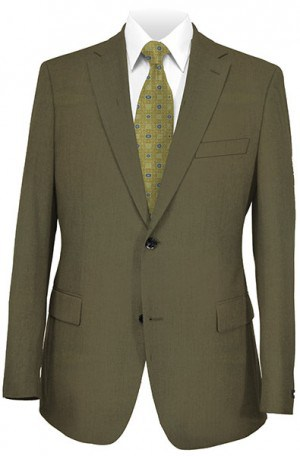 Paul Betenly Tan Solid Color Tailored Fit Suit #8T0014
