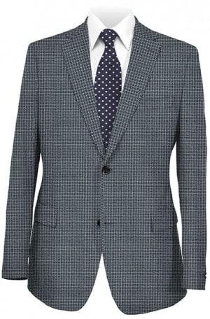Abboud Blue Check Gentleman's Fit Sportcoat #912961