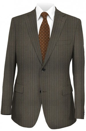 Mattarazi Medium Brown Stripe Suit #921721-8