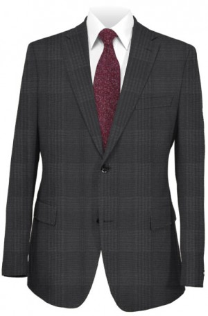 Canaletto Black Pattern Tailored Fit Suit 96119-1