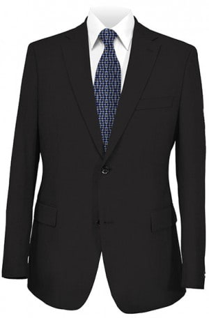 Joseph Abboud Black Solid Color Suit #991400