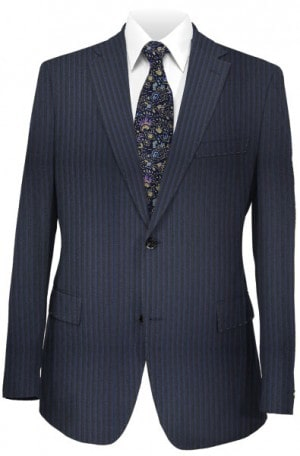 Rubin Navy Stripe Tailored Fit Suit A00276