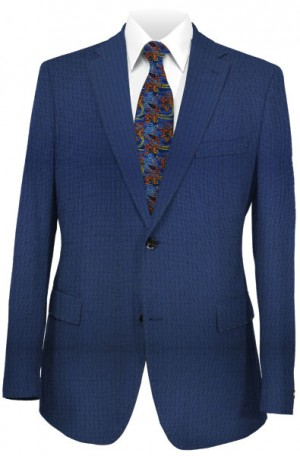 Rubin Navy Check Tailored Fit Suit #A00496
