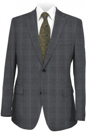 Rubin Medium Gray Pattern Tailored Fit Suit #A0064