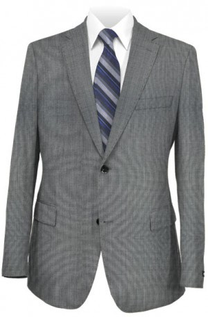 Rubin Gray Sharkskin Tailored Fit Suit A00729