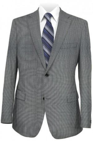 Rubin Gray Sharkskin Tailored Fit Suit #A00729