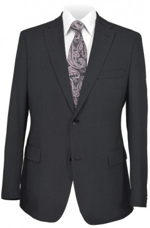 Rubin Black Textured Tailored Fit Suit #A0080