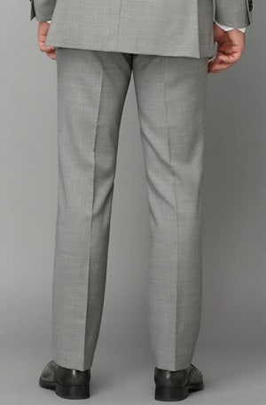 HILFIGER Medium Grey Solid Color SLACKS AS116