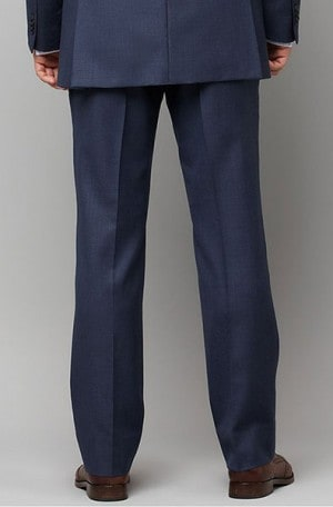 HILFIGER Medium Blue Solid Color SLACKS AS130