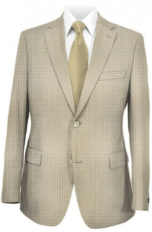 Hilfiger Tan Check Cotton Sportcoat B1503.