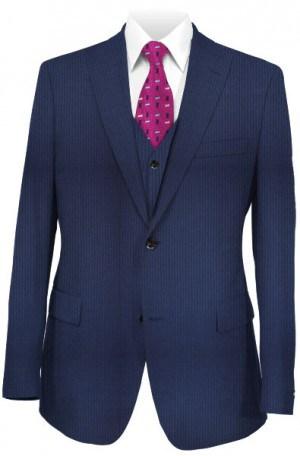 Tiglio Medium Blue Tailored Fit Vested Suit B82091-037-3