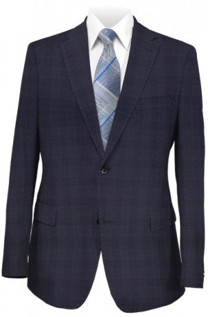 Canaletto Navy Pattern Tailored Fit Suit #CN1562-1
