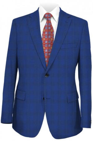 Canaletto Blue Windowpane Tailored Fit Suit #CR141606-6