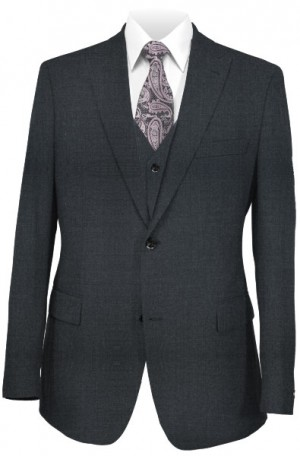 "Creativa Charcoal Classic Fit ""Wedding"" Suit with Vest #CT701-CHAR"