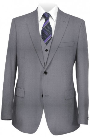 "Creativa Light Gray Classic Fit ""Wedding"" Suit with Vest #CT701-LGRY"