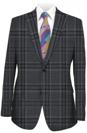 Canaletto Gray Windowpane Tailored Fit Suit #CV86-765-1