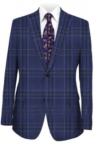 Canaletto Blue Windowpane Tailored Fit Suit #CV86-7651-2