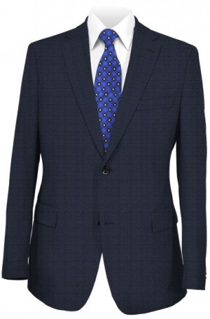 Varvatos Blue Fine Check Tailored Fit Suit #DVY12999H