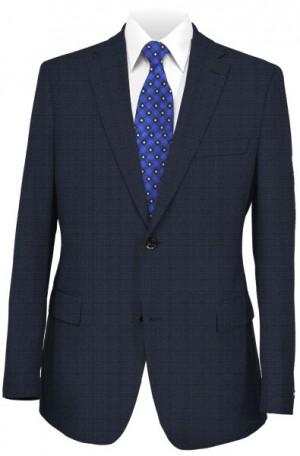 Varvatos Blue Fine Check Tailored Fit Suit DVY12999H