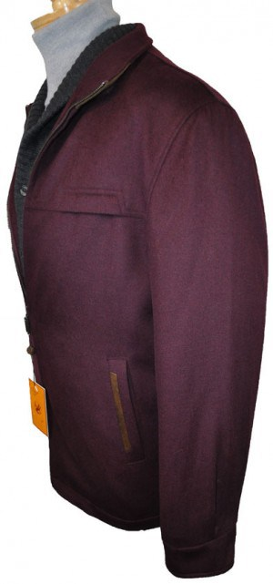Enzo Burgundy Fall-Spring Jacket #E54878-3