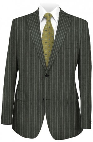 Hickey Freeman Gray Chalk Stripe Suit F21-312002/F21-312202