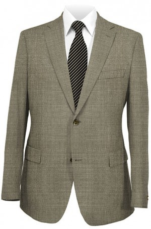 Hickey Freeman Taupe Pattern Suit F21-312269