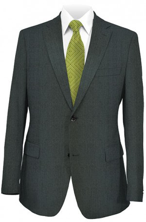 Hickey-Freeman Medium Gray Solid Color Suit #F21-312402