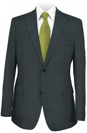 Hickey Freeman Gray Solid Color Suit F25-312017