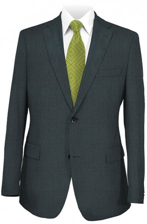 Hickey Freeman Gray Solid Color Suit #F25-312017