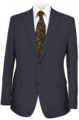 Hickey Freeman Navy Solid Color Suit F25-321001
